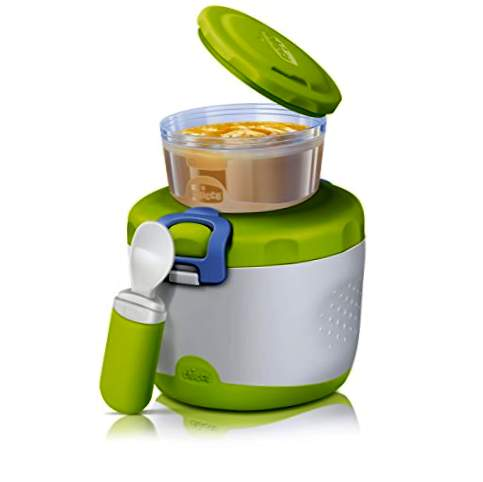 Chicco Easy Meal - Set di porridge termico con thermos, ciotola e cucchiaio, 350ml, 6m +
