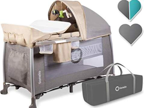 Lionelo Folding Travel Cot til baby Simon-Sand
