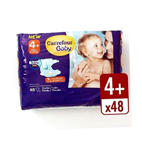 Carrefour Baby Ultra Dry Size 4+ πανών Βασική συσκευασία 48 ανά πακέτο - πακέτο 2