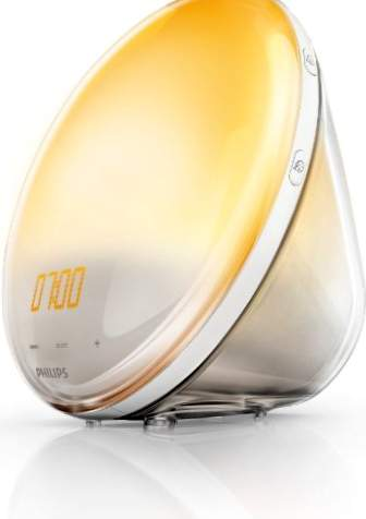 Philips Wake Up Light HF3520 / 01 - Sveglia con 5 suoni naturali, sistema di autoregolazione dell'intensità della luce, radio FM, digitale