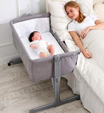 Star Ibaby - Colecho Mini Crib, justerbar 6 atures, liggende