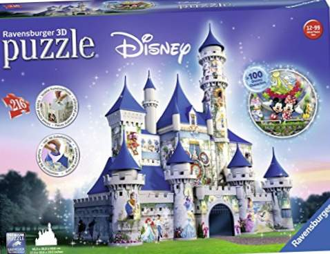 Ravensburger Puzzles 3D Building Maxi Series, Disney Fantasy Castle (12587)
