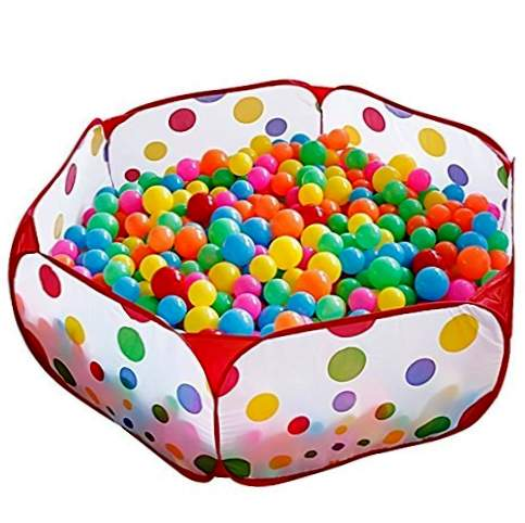 Kuuqa 100cm Ball Pool Ball Pool Hexagon Polka Dots Barn Ball Play Pool Shop med fälg (bollar ingår inte)