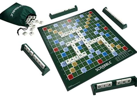 Mattel Games - Original Castilian Scrabble Board Game (Mattel Y9594)