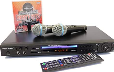 VOCAL-STAR VS-800 HDMI - KARAOKE MULTIFORMAT MED 2 MIKROFONER, 150 låtar