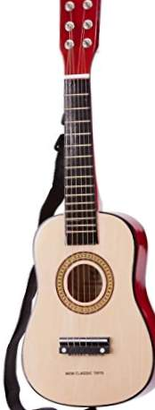 New Classic Toys 0344 - Guitarra de juguete, color natural