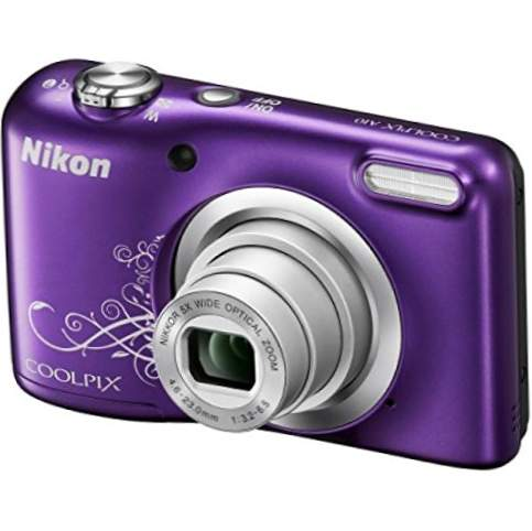 "Nikon COOLPIX A10 16.1MP 1 / 2.3 ""CCD 4608 x 3456Pixel Purple - Cameră digitală (artificii, auto, curent alternativ, baterie, cameră compactă, 1 / 2.3"", 4.6 - 23 mm)"